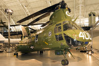 """153369 - Last """"Phrog"""" to be used by the Marine Corps, on display at Steven F. Udvar-Hazy Center, NASM. The CH-46 remained in service for five decades in combat, humanitarian and disaster relief roles."""