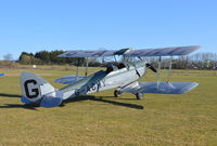 G-AGHY @ EGHP - De Havilland DH-82A Tiger Moth at Popham. Ex military serial N9181 - by moxy