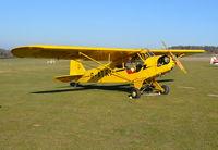 G-ATKI @ EGHP - Piper J3C-65 Cub at Popham. Ex N70536 - by moxy