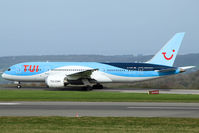 G-TUIA @ EGGD - Taxiing to RWY 09 for departure - by DominicHall