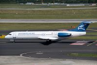 4O-AOP @ EDDL - Fokker 100 F28-0100 - YM MGX Montenegro Airlines - 11332 - 4O-AOP - 28.07.2017 - DUS - by Ralf Winter