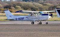 G-BZBF @ EGFH - Visiting Skyhawk. - by Roger Winser