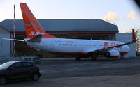 TC-AJP @ EGSH - Rolling out of Air Livery in JeJuAir livery