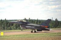 302 @ ESOK - Royal Norwegian Air Force F-16BM landing at Karlstad airport, Sweden, 2002 - by Van Propeller
