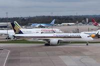 9V-SMR @ EGCC - Just landed at Manchester. - by Graham Reeve