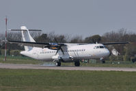 G-ISLN @ EGJB - Landing on 09 at Guernsey - by alanh