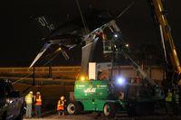 65-0747 @ KORL - F-4 Gate guard being mounted on the pedestal at Kittinger Park