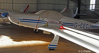 G-CECJ @ EGHL - Hangared @Lasham - by Clive Pattle