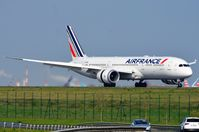 F-HRBE @ LFPG - Air France B789 reversing to come to a stop - by FerryPNL