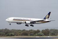 9V-SQK @ YPPH - Boeing 777-212(ER) Singapore Airlines 9V-SQK. Short final runway 03, YPPH 30/06/17.