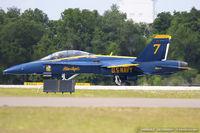 163468 @ KLAL - F/A-18D Hornet 163468 C/N 0691 from Blue Angels Demo Team  NAS Pensacola, FL
