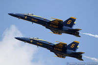 163705 @ KLAL - F/A-18C Hornet 163705 C/N 0767 from Blue Angels Demo Team  NAS Pensacola, FL