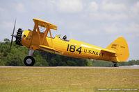 N5118N @ KLAL - Boeing A75L3 PT-13 Kaydet  C/N 75-7195, N5118N