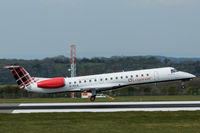 G-SAJL @ EGGD - Landing RWY 09 - by DominicHall