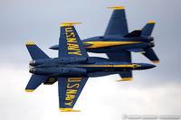 163462 @ KLAL - F/A-18C Hornet 163462 C/N 0683 from Blue Angels Demo Team  NAS Pensacola, FL
