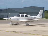 N352RC @ EGJB - Parked on the west apron, Guernsey - by alanh