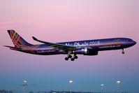 A6-AFA @ LIMC - Landing