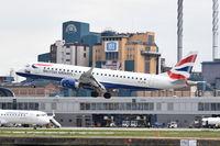 G-LCYN @ EGLC - Landing at London City Airport.