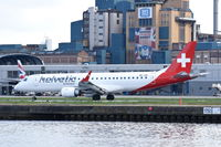 HB-JVN @ EGLC - Departing from London City Airport.