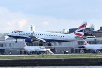 G-LCYV @ EGLC - Landing at London City Airport.