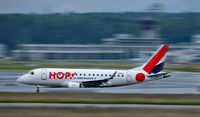 F-HBLF @ ZRH - HOP Embraer ERJ-190LR. HOP! is the brand name of the regional flights operated by subsidiaries of Air France. Its flights are operated by Airlinair, Brit Air and Régional under the HOP! brand. - by miro susta