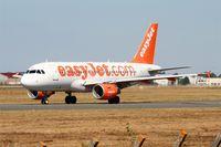 G-EZBD @ LFBD - Airbus A319-111, Taxiing to holding point Delta rwy 05, Bordeaux Mérignac airport (LFBD-BOD) - by Yves-Q