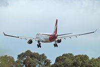 VH-EBF @ YPPH - Airbus A330-202  Qantas VH-EBF, runway 21, YPPH 12/08/17. - by kurtfinger