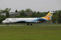 9A-BTD @ LOWG - Trade Air Fokker 100 @GRZ (charter to PMO) - by Stefan Mager