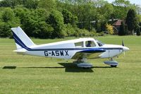 G-ASWX @ EGTH - Departing from Old Warden.