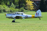 G-BBND @ EGTH - Departing from Old Warden.