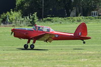 G-BCGC @ EGTH - Departing from Old Warden.