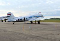 HA-LIX @ EGSU - Lisunov Li-2T at Duxford - by moxy