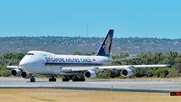 9V-SFP @ YPPH - Boeing 747-412F. SQC 9V-SFP lining up runway 03 YPPH 03/03/18.