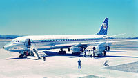 PH-DCG @ YPPH - Douglas DC 8-32. KLM PH-DCG. Perth airport January 1963 - by kurtfinger