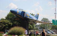 153812 @ KBKL - blue Angels Gate Guard Cleveland