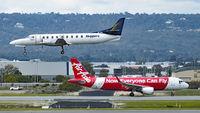 VH-WBA @ YPPH - Fairchild Swearingen SA-227DC Metroliner. Skippers VH-WBA and Airbus A320-216 AirAsia PK-AZE YPPH 31/08/2018. - by kurtfinger