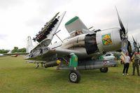 F-AZHK @ LFFQ - Douglas AD-4N Skyraider, Static display, La Ferté-Alais airfield (LFFQ) Airshow 2015 - by Yves-Q