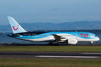 G-TUIH @ EGGD - Taxiing to terminal after landing on RWY 27 - by DominicHall