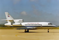 A26-077 @ YSCB - Stbd side view of RAAF 34 Squadron Falcon 900 A26-077 Cn 077 on the apron at RAAF Base Fairbairn YSCB on 17Feb1999. Photo taken while waiting to fly to Avalon YMAV in RAAF B707 A20-261 for the 1999 Avalon International Airshow.