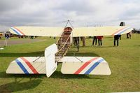 F-AZBA @ LFFQ - Bleriot XI Replica, Static display, La Ferté-Alais airfield (LFFQ) Air show 2015 - by Yves-Q