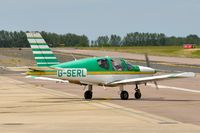 G-SERL @ EGSH - Leaving Norwich. - by keithnewsome