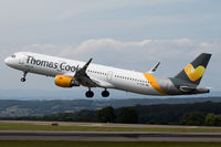 G-TCDE @ EGGD - Departing RWY 27 - by DominicHall