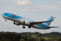 G-FDZT @ EGGD - Departing RWY 27 - by DominicHall