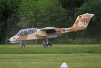 F-AZKM @ LFFQ - North American OV-10B Bronco, Landing, La Ferté-Alais (LFFQ) air show 2015 - by Yves-Q