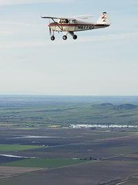 N8772D @ KMYV - Air to air - by Piper Cub Pilot