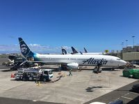 N434AS @ HNL - At the gate at HNL - by Arthur Tanyel
