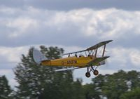 G-ANFM @ EGTH - 1941 Tiger Moth taking off at the Gathering of Moths Day 2019 at Old Warden - by Chris Holtby