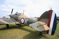 F-AZXR @ LFFQ - Hawker Hurricane Mk.IIa, Static display, La Ferté-Alais airfield (LFFQ) Airshow 2015 - by Yves-Q