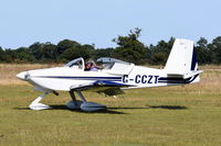G-CCZT - Just landed at, Bury St Edmunds, Rougham Airfield, UK.
