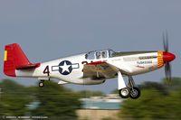 N61429 @ KOSH - North American P-51C Mustang Tuskegee Airmen  C/N 103-26199, NL61429 - by Dariusz Jezewski www.FotoDj.com